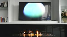 TV et bruleur ethanol long XL http://www.a-fireplace.com/fr/bruleur-bioethanol/
