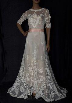 Edwardian Lace Dress c 1915 $1400