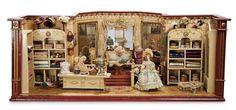 The Stein am Rhein Museum Collection: 335 German Wooden Dollhouse Room as Milliner's Shop