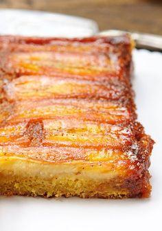 Банановый карамельный перевернутый пирог - Le petit terroir