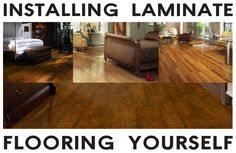 How Easy Is It To Install Laminate Flooring Yourself? Laminate flooring is fast to install and easy to keep clean. It is the best material to use to cover over wood and concrete floors. Laminate can also be purchased to look like wood, stone and even tile.