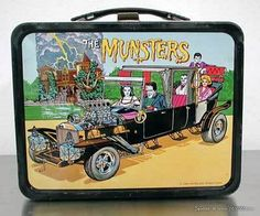 Vintage 1965 The Munsters Metal Lunchbox Kayro-Vue TV Show No Thermos Handle