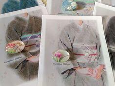 花菖蒲の帯留 & 替え袖スナップ|Rumphius 帯留作り&着物ダイアリー♪