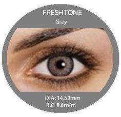 Fresh Tone Gray - Buy Best Quality Non Prescription Colored Contact Lenses - 1