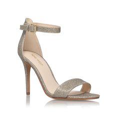 Nine West Mana 2 high heel sandals, Gold