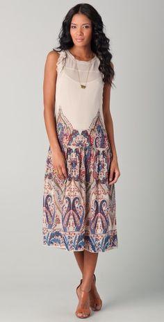 Mes Demoiselles // Lila long printed dress