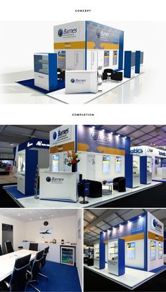 RTH took inspiration from Barnes' website to create a consistent design for their successful stand at Farnborough air show. New graphical elements ensured the space looked new and fresh and the display units ensured Barnes' products were easily visible.