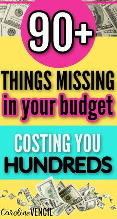 Do you keep finding expenses that aren't on your budget? These 90 items might be missing from your budget and costing you hundreds. #budgetingtips #budgetingforbeginners #budgetaudit #moneysavingtips #moneysavinghacks #moneysavingtipsandtricks