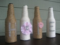 HOPE wrapped glass bottles with lots of by StacysHappyPlace