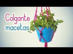 Manualidades: COLGANTE para MACETAS de trapillo (MUY FÁCIL) - Innova Manualidades - YouTube