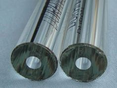 There are two pieces of heavy wall tubular gauge glass.