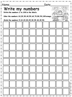 Write Numbers 1-100 - These pages build on writing numbers beginning with 1-10 and then increasing (find patterns such as even and odd and 3's,k 4's, 5's, 6's, 7's, 8's, 9's, 10's, 11's, and 12's as well as writing numbers) 32 pages $