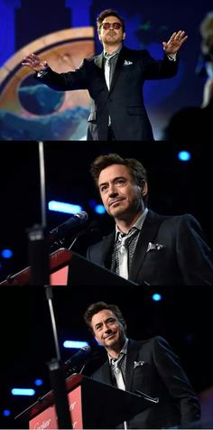 Robert Downey Jr. at the Palm Springs International Film Festival Gala, presenting the Icon Award to Robert Duvall, January 3, 2015.