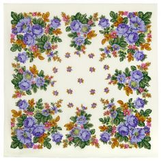 Russian white wool gauze shawl Pavlovo Posad folk shawl kerchief for women size Blue roses square scarf wrap, Lightweight vintage shawl Pride And Glory, Today's Fashion Trends, Lush Garden, Soft And Gentle, High Art, Blue Roses, Floral Scarf, Beautiful Patterns, Shawl