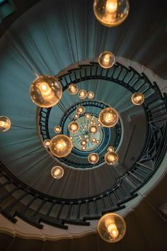 Spiral staircase lighting source unknown - Architecture and Home Decor - Bedroom - Bathroom - Kitchen And Living Room Interior Design Decorating Ideas - Interior Architecture, Interior And Exterior, Interior Design, Stairs Architecture, Room Interior, Stairway To Heaven, Belle Photo, Stairways, Lighting Design