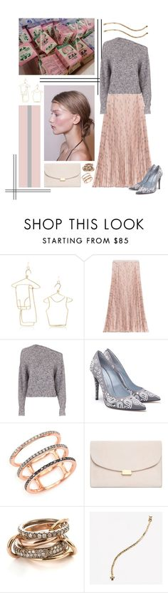 """Swerve"" by cherieaustin on Polyvore featuring Rosie Assoulin, Marni, Valentino, T By Alexander Wang, EF Collection, Mansur Gavriel and SPINELLI KILCOLLIN"
