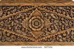 Pattern of rose carved on wood. Wood carving of rose motif , Chip Carving, Bone Carving, Wood Crafts, Diy And Crafts, Photo Pattern, Wood Carving Patterns, Decoupage Vintage, Learn Woodworking, Wood Art