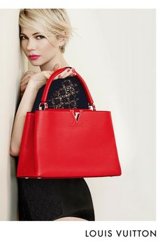 An ad from Louis Vuitton featuring Michelle Williams. [Courtesy Photo]