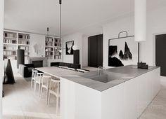 Flat interior design, Warsaw