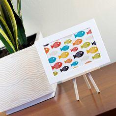 happy fish print