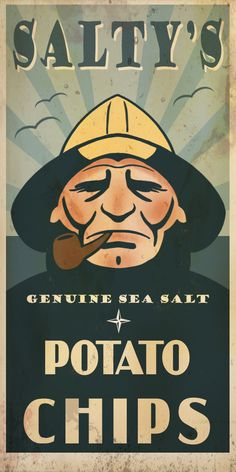 Salty's potato chips ad