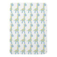 Yellow & Blue Baby Mod Giraffe Baby Blanket