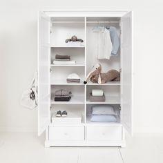 Luxury 2 Door Wardrobe in White - Oliver Furniture