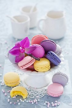 Macarons & orchid- http://m.flickr.com/thelittlesquirrel