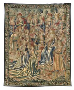 Franco-Flemish Tapestry Early 16th C. - These narrative tapestries reflect the painterly manner of Jan van Roome, who was one of the most important tapestry designers of the period, and who was active as early as 1498 and received numerous important commissions from Margaret of Austria between 1509 and 1521.
