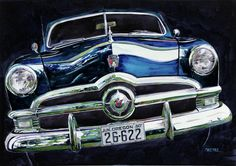 Fifty Ford Painting by Mike Hill - Fifty Ford Fine Art Prints and Posters for Sale