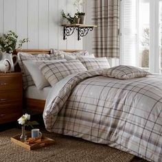 Natural Check Bed Linen Collection