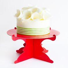 Red Cardboard Cake Stand