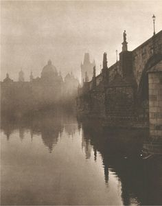 "lostandfoundinprague: "" Photographer of the month: Jindřich Marco, Charles Bridge, autumn morning, "" Old Pictures, Old Photos, Prague Czech Republic, Old Postcards, Travel Aesthetic, Great Photos, Amazing Photography, Photo Art, Charles Bridge"