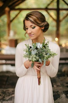 #bouquet  Photography: Angela Shae - angelashae.com Design, Styling + Stationery: Anastasia Marie - anastasiamariecards.com  Read More: http://stylemepretty.com/2013/05/17/earthy-greens-inspired-photo-shoot-from-anastasia-marie-angela-shae/