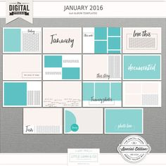 January 2016 | 6x4 Photo Templates