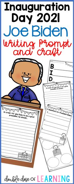 Inauguration Day 2021 will be here soon! Help your students learn about the new president, Joe Biden by organizing their thoughts and responding to multiple writing prompts. In addition, there is an adorable Joe Biden craftivity---they are perfect for hallway displays or bulletin boards! Students will get their creative ideas flowing, and write down their questions for the new president, write about suggestions for his first day in the White House, complete an acrostic poem, and more! Fourth Grade, Second Grade, Presidents In Order, Hallway Displays, American History Lessons, Human Body Systems, School Closures, Unit Plan, New President