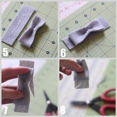 Vintage Inspired Felt Bows   I Heart Nap Time - How to Crafts, Tutorials, DIY, Homemaker