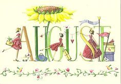 """August"" illustration de Nina Chen, artiste allemande."