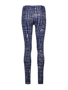 Legging viscose print block - Dblue - iez! womenswear