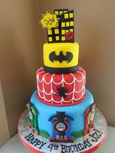 Super hero birthday cake made by Kakes by Kena