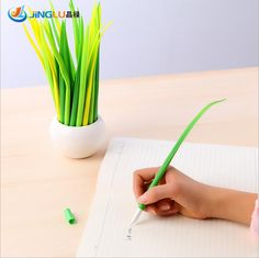 $1.42 (Buy here: https://alitems.com/g/1e8d114494ebda23ff8b16525dc3e8/?i=5&ulp=https%3A%2F%2Fwww.aliexpress.com%2Fitem%2F12-pcs-Lot-Tiny-green-grass-Gel-pen-Blade-grass-potting-decoration-zakka-Stationery-Caneta-Office%2F32259286443.html ) 5 Pcs / Pack Tiny Green Grass Gel Pen Blade Grass Potting Decoration Zakka Stationery Caneta Office Supplies Material School for just $1.42