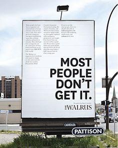 The Walrus transit ads