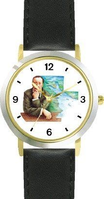 Theodore Roosevelt (Teddy) - 26th President - WATCHBUDDY® DELUXE TWO-TONE THEME WATCH - Arabic Numbers - Black Leather Strap-Size-Children's Size-Small ( Boy's Size & Girl's Size ) WatchBuddy. $49.95