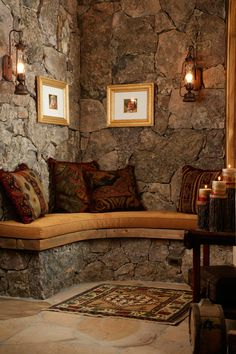 Used extensively throughout or just in a cozy corner, #naturalstone is perfect in any home   Home on the Range Interiors #interiors