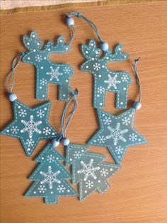 Christmas decoration star deer ornament pattern