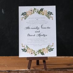 Flora Invitation Suite  DEPOSIT by apdesignco on Etsy, $100.00