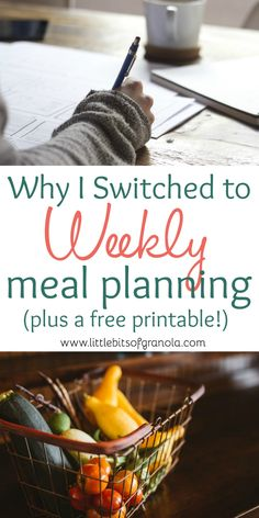 Such a great reason to plan meals weekly!