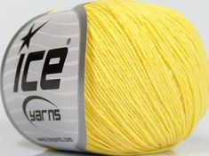 Baby Summer or Ice Yarns, Baby Yellow, Cotton Lights, Summer Baby, Fiber, Content, Natural, Paradise, Knitting