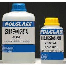 Resina Epóxi Cristal Kit 1kg + 500g Endurecedor