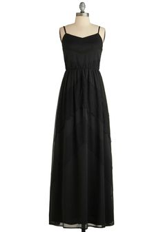 Heirloom of Mystery Dress - www.modcloth.com - lace details make for a more dressy black maxi dress